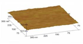 PtMn(50nm)成膜における表面粗さ
