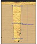 高A/R(5:1)ビアへの埋め込み(深掘り、酸化膜、シード層成膜)