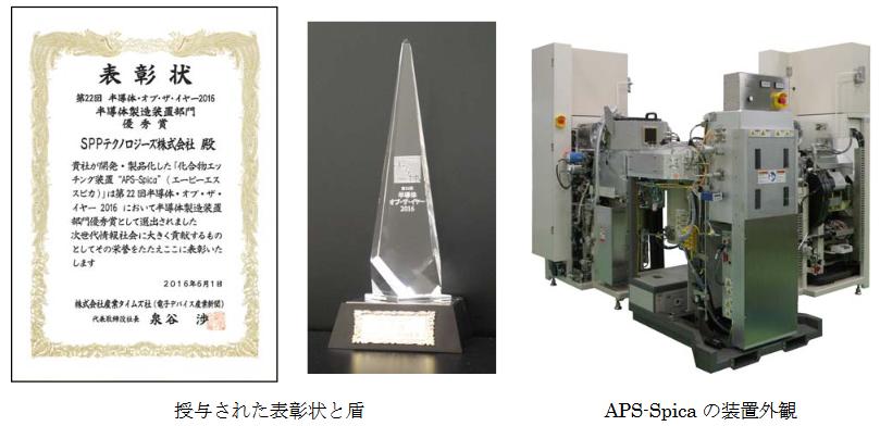 """化合物エッチング装置""""APS-Spica""""が優秀賞を受賞しました。"""