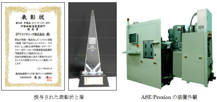 """シリコン深掘り装置""""ASE-Proxion""""が優秀賞を受賞しました。"""
